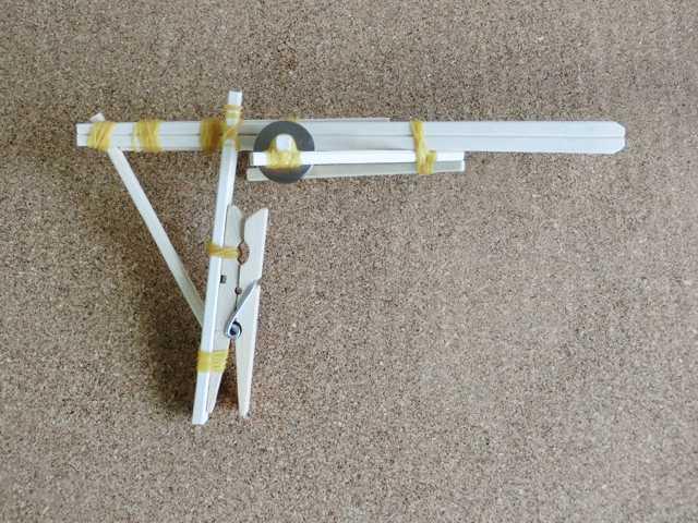 割り箸輪ゴム鉄砲の作り方_0