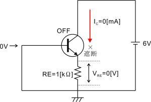 電流帰還バイアス回路-エミッタ抵抗-1