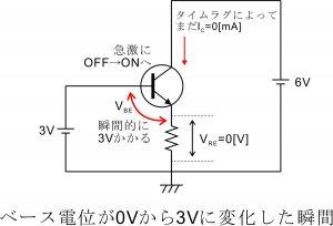 電流帰還バイアス回路-エミッタ抵抗-2