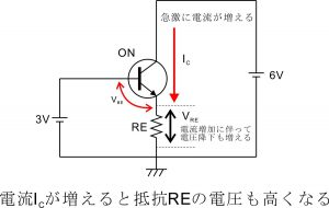 電流帰還バイアス回路-エミッタ抵抗-3