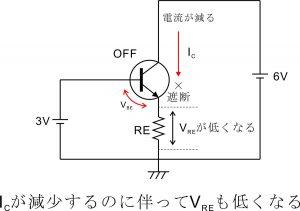 電流帰還バイアス回路-エミッタ抵抗-6