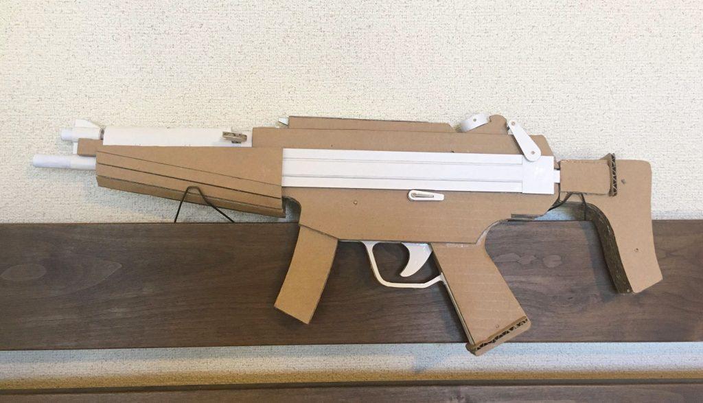 ダンボール製サブマシンガン型輪ゴム鉄砲RG-700