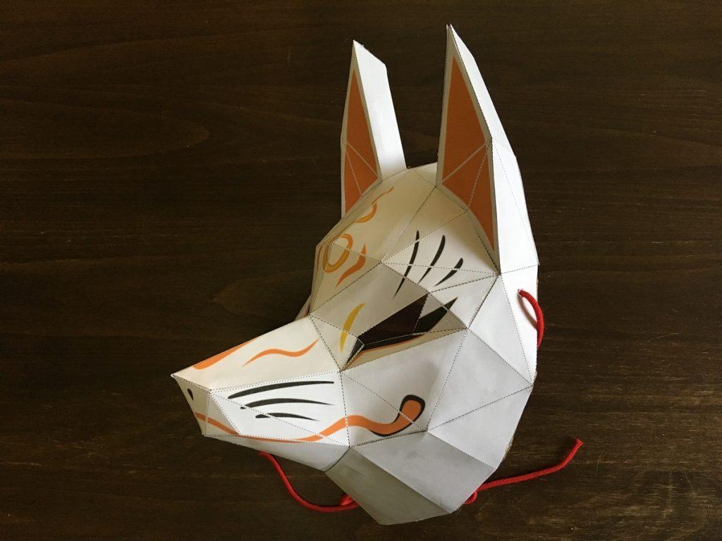 紙とダンボールで作る狐のお面の作り方 | 研究開発 | 相楽製作所
